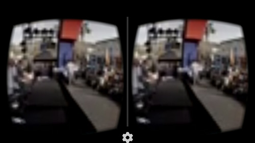YouTube video in Google Cardboard mode